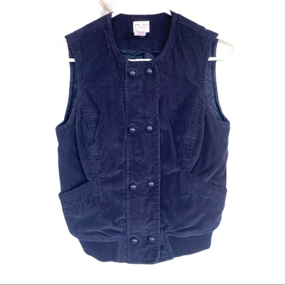 PLAY C. Ronson Urban Outfitters Navy Corduroy Vest
